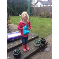 Planting fun from Connie!