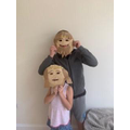 Ryan and Amalia's Greek masks