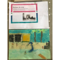 Olivia M's David Hockney inspired artwork