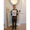 Thomas's Sumdog certificate- 10th place!
