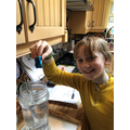 Isobel testing air resistance