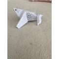 Olivia M's origami turtle