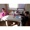 Zac and Mia enjoy making crafts together.
