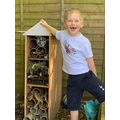 Dylan made a bug palace!