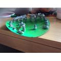 Clara's Stonehenge model