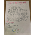 Sammy's history of the Olympics