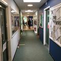 You walk along the corridor towards the Y3 area