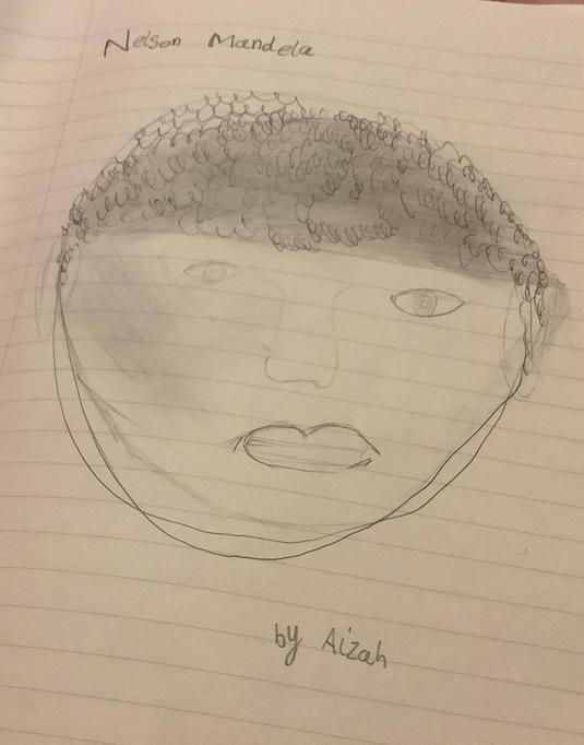 Nelson Mandela by Aizah