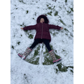 Taiya's snow angel