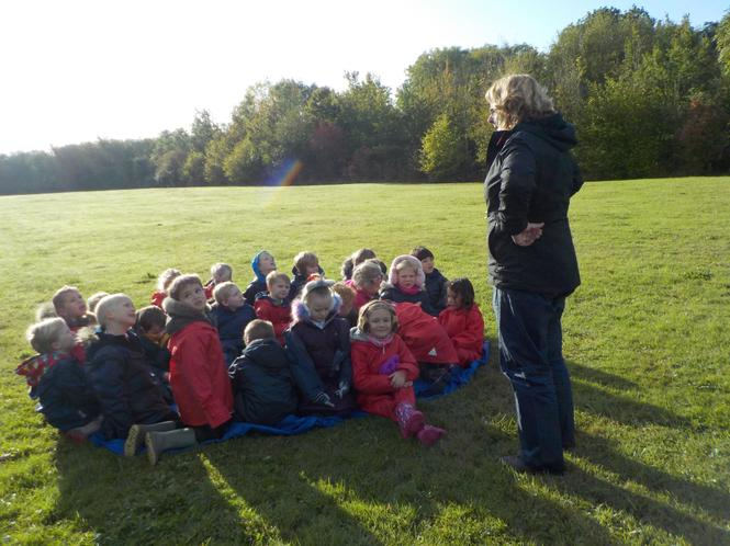 Listening carefully to Forest School rules