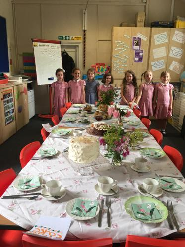 We are bakers, flower arrangers and table layers!