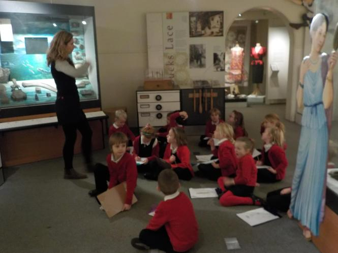 Learning about how Aylesbury was once the sea bed.