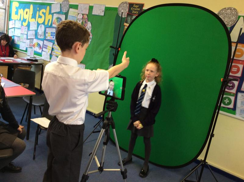 Filming using an iPad and Green Screen