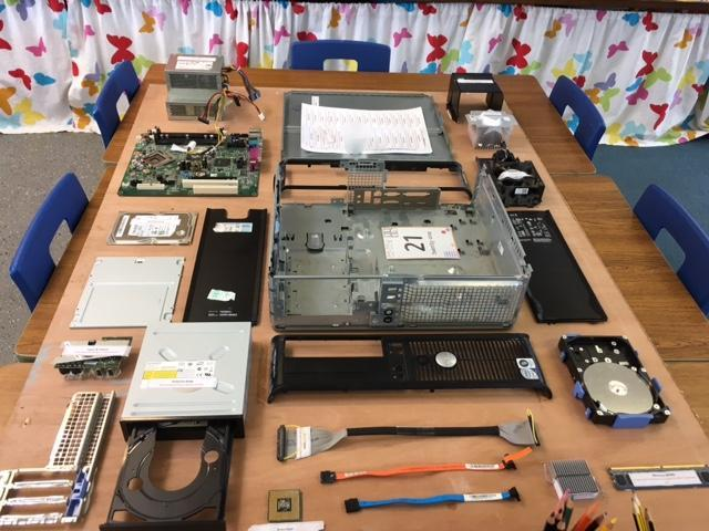 The parts inside a computer - MASH Club
