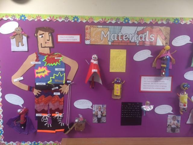 Materials Display - Traction Man