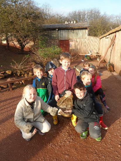 Enjoying our class trip to the zoo.