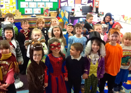 Diamond Class loved dressing up for World Book Day