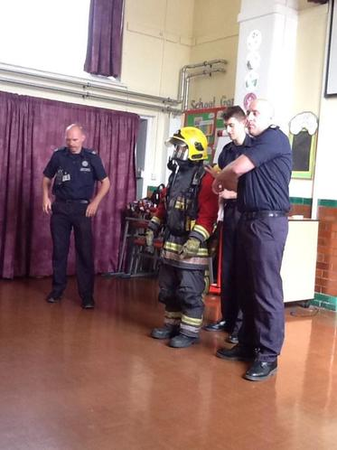 Firefighter visit- Can you spot Mrs Clarke?