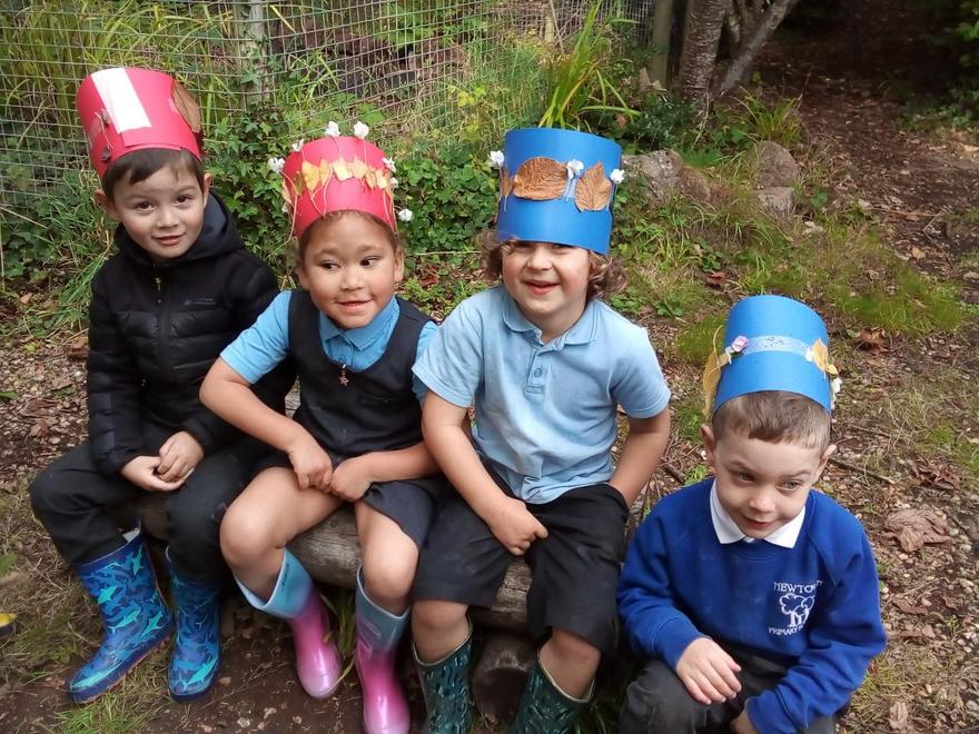 Very happy with their beautiful crowns.