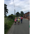 We're walking because Mrs Lench wanted to save the bus money!
