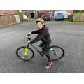 Harper learnt to ride a bike