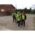 Mrs Reece keeps a watchful eye on her group.. or is it the other way round?