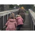 Creeping across the main bridge to attack the castle.