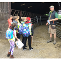 Team Elliot arrives to visit the cows