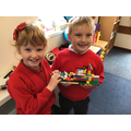 We learnt about Thanksgiving, and the children made models of The Mayflower