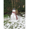 Harper built a snowman
