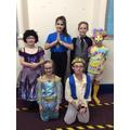Widow T, Genie, Abanazar, Wantu, Jasmine, Aladdin