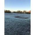 Beautiful, frosty morning before rounders