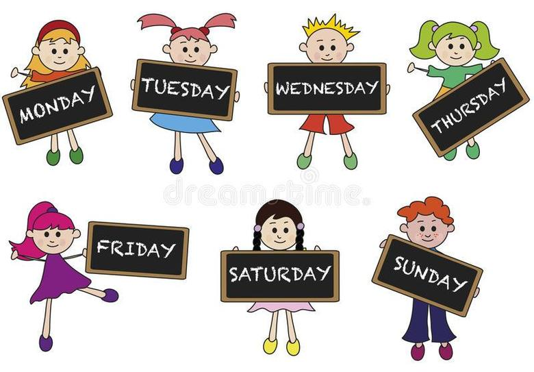 Keep a food/exercise/personal/pet diary using days of the week.