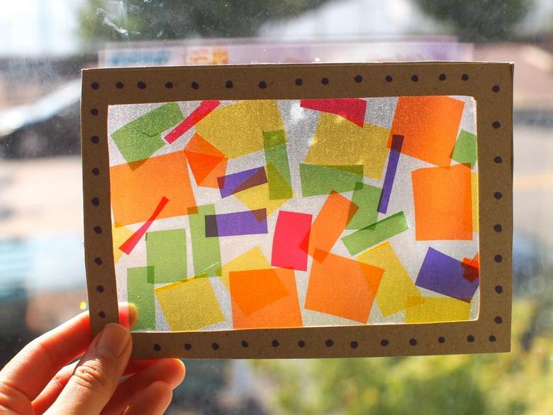 Make a stained-glass window.