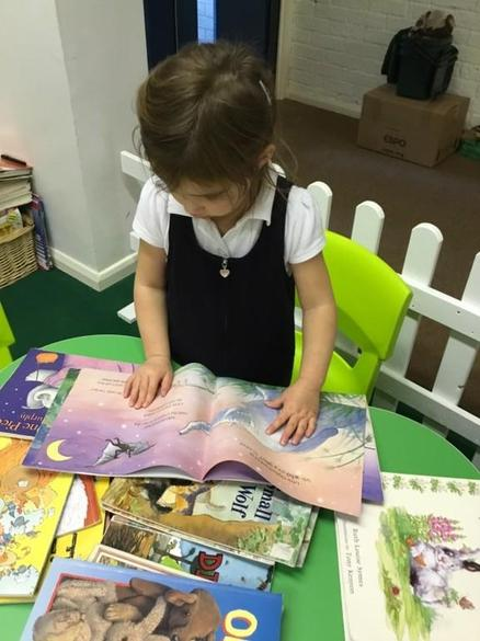 Exploring books in our school library