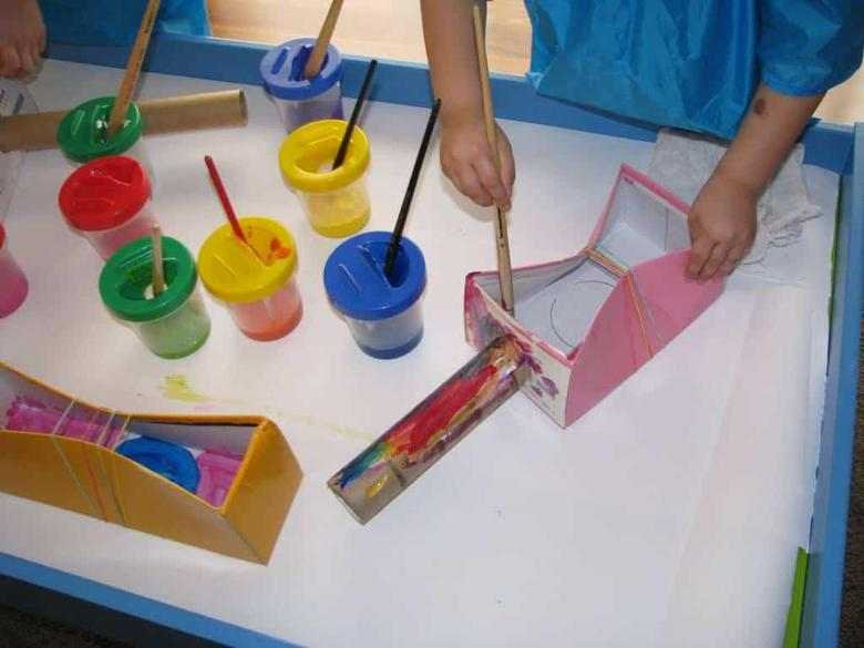 Make your own percussion instruments using recycled materials.