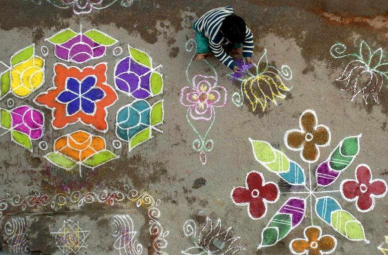 Learn about the significance of Rangoli patterns for Hindus. Try creating your own!