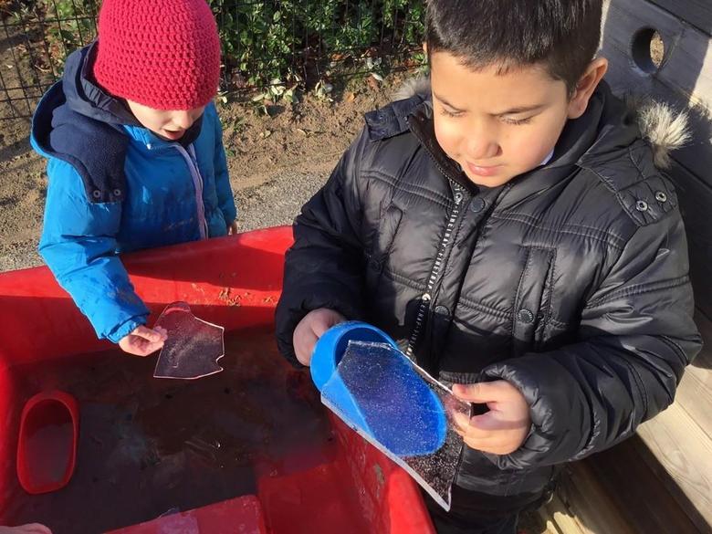 We found ice!