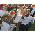 Children sing for Red Nose Day
