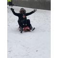 Mr James sledging.JPG