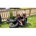 Don't the planters look great -well done girls