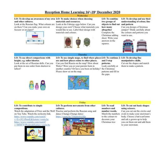Home Learning Planner