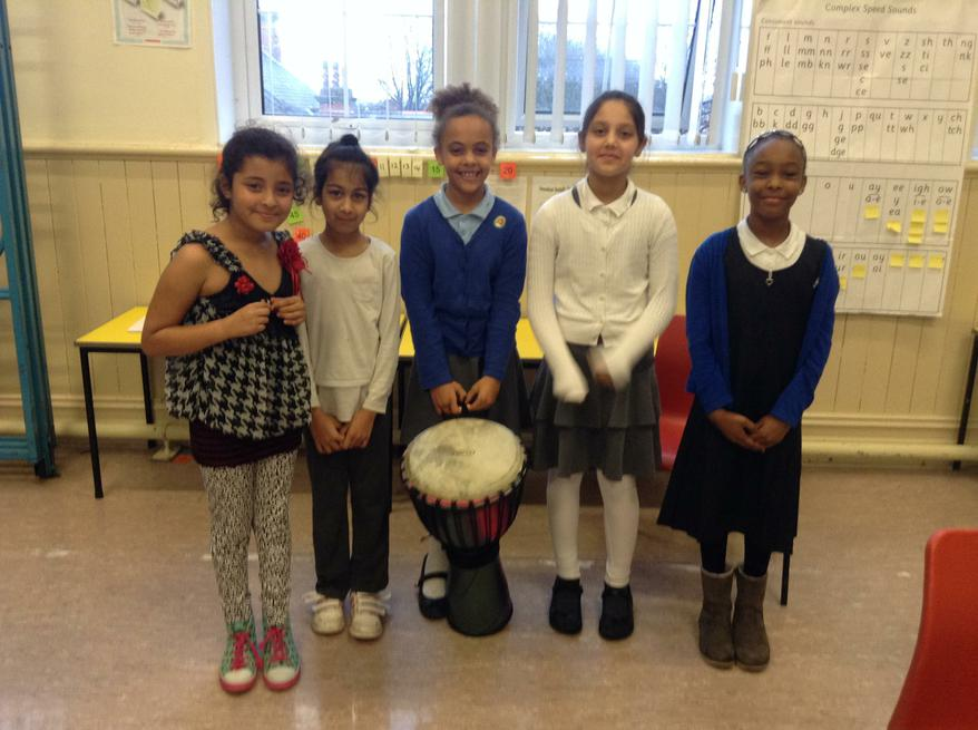 Year 4's Gymnastics Drumming and Singing 1st place