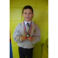 Josh, silver medal in cross country competition.