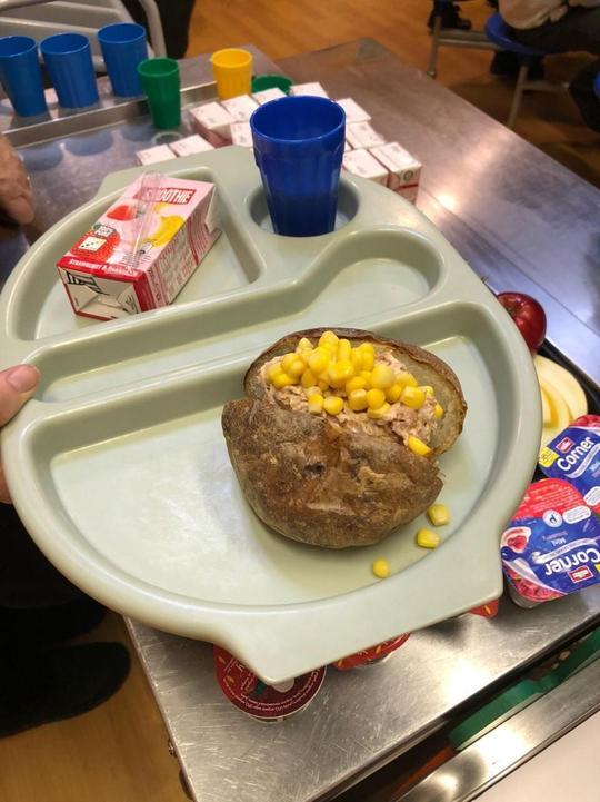 KS2 Jacket potato with tuna and sweetcorn