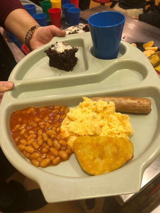 Vegetarian all day breakfast