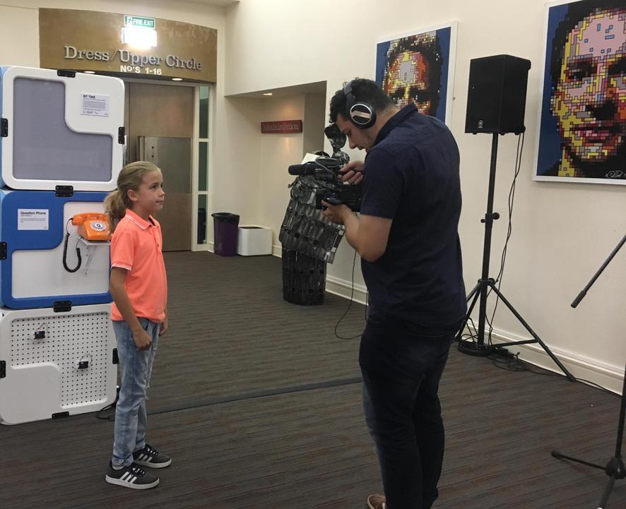 Luca being interviewed!