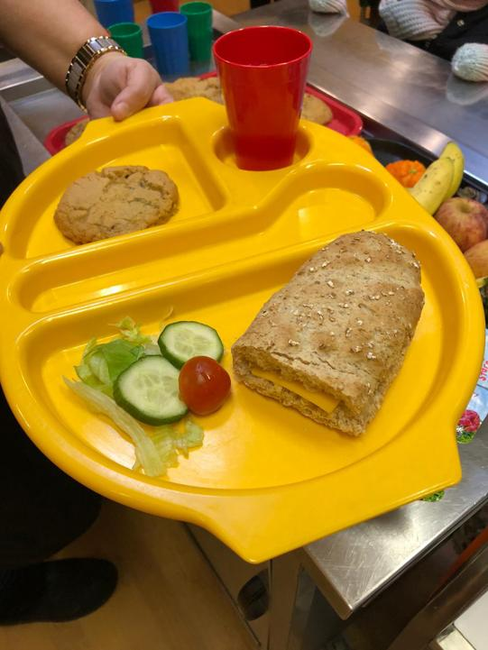 KS1 sub roll with cheese