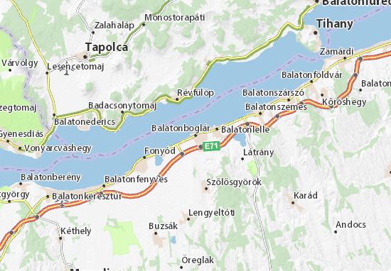 A Map of Balatonboglar