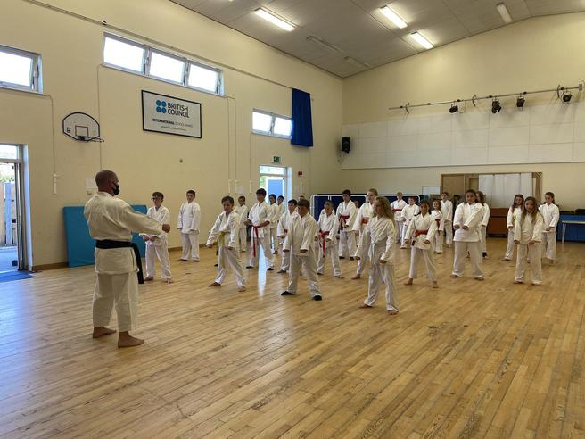 Our First Karate Lesson of Year 6